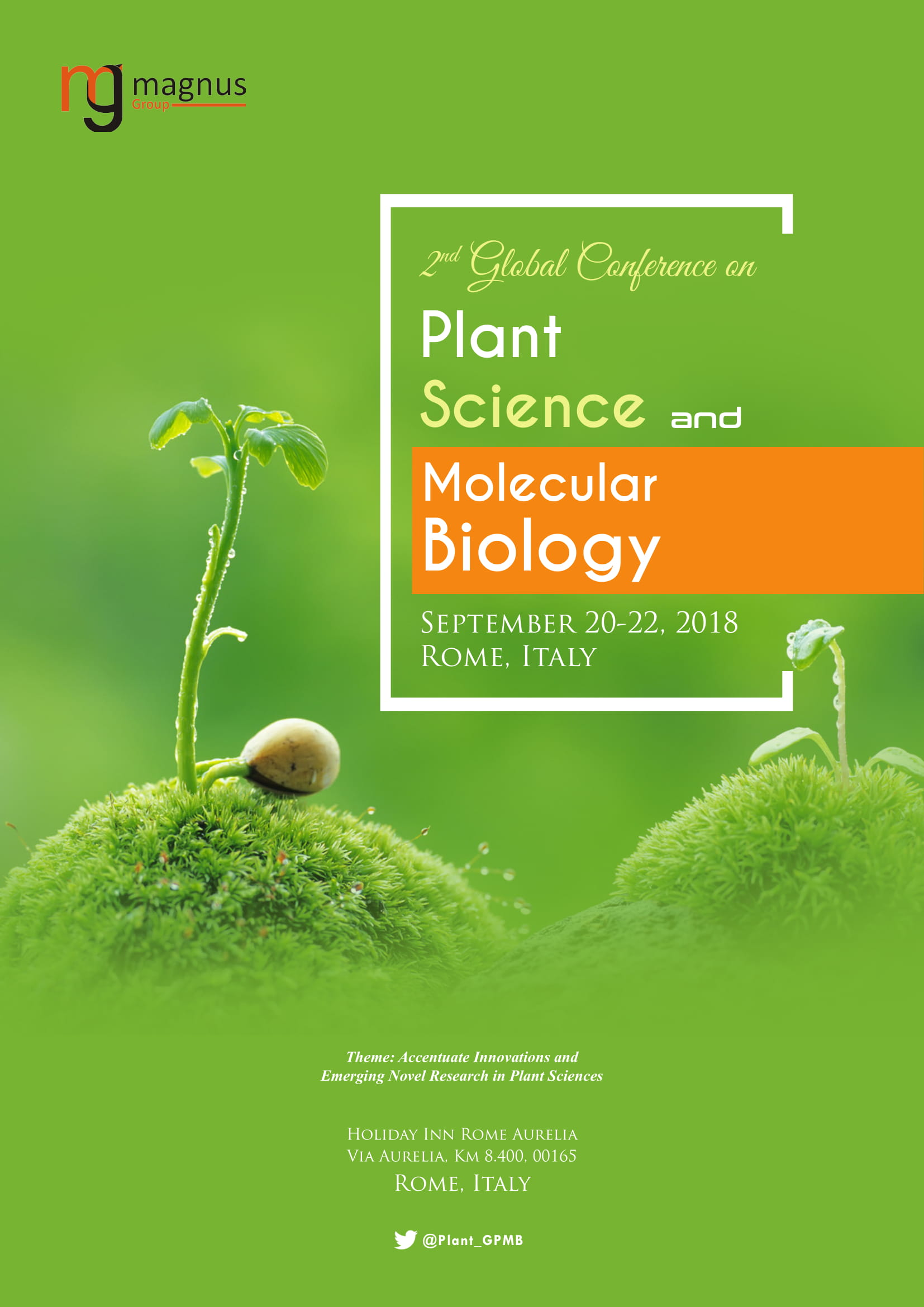 2nd Edition of Global Conference on Plant Science and Molecular Biology | Rome, Italy Book