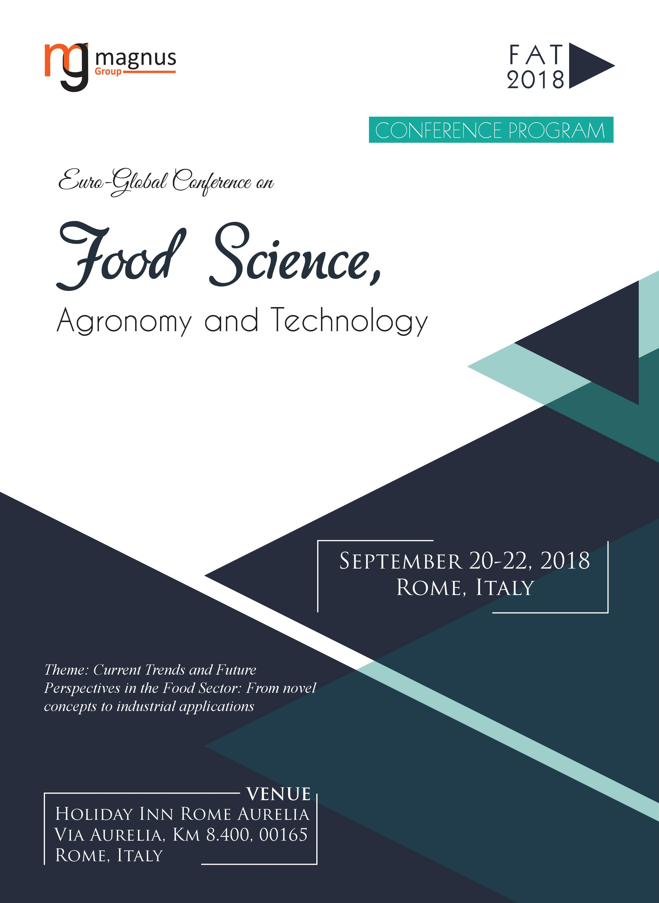 Euro-Global Conference on Food Science, Agronomy and Technology | Rome, Italy Program